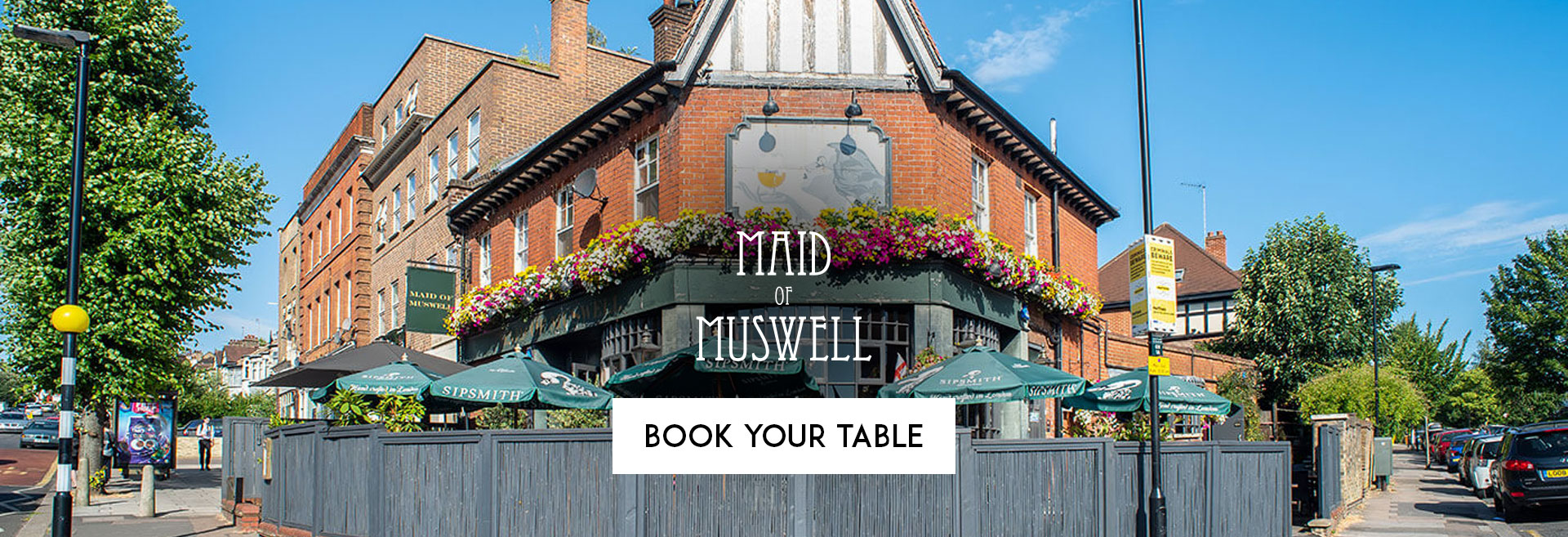Book Your Table at The Maid Of Muswell